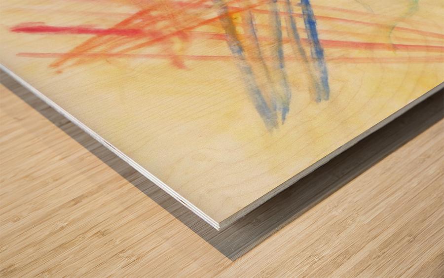 Scratches 2 (Joan Miro tribute) Wood print