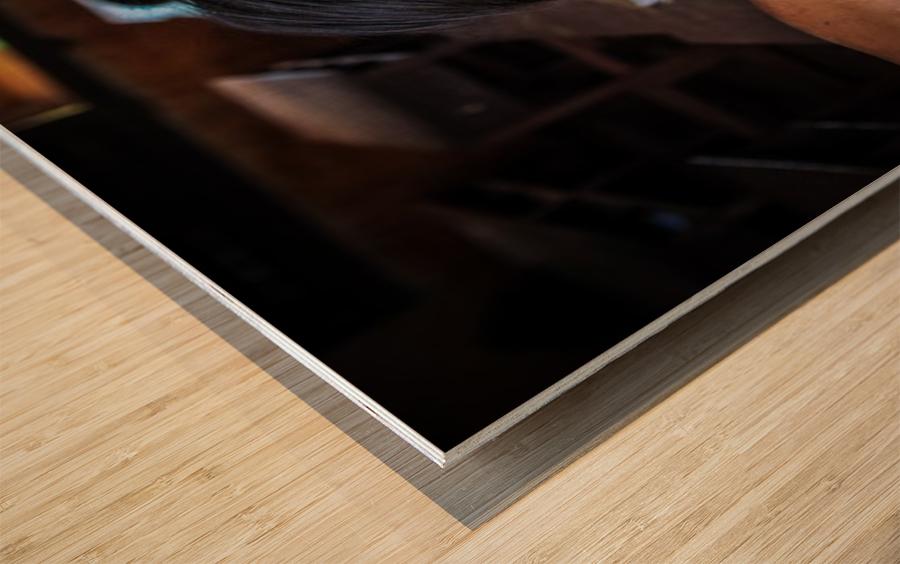Deep dark eyes Wood print