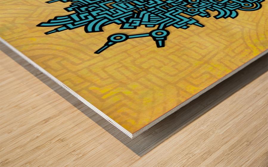 TOM RECLINING Wood print