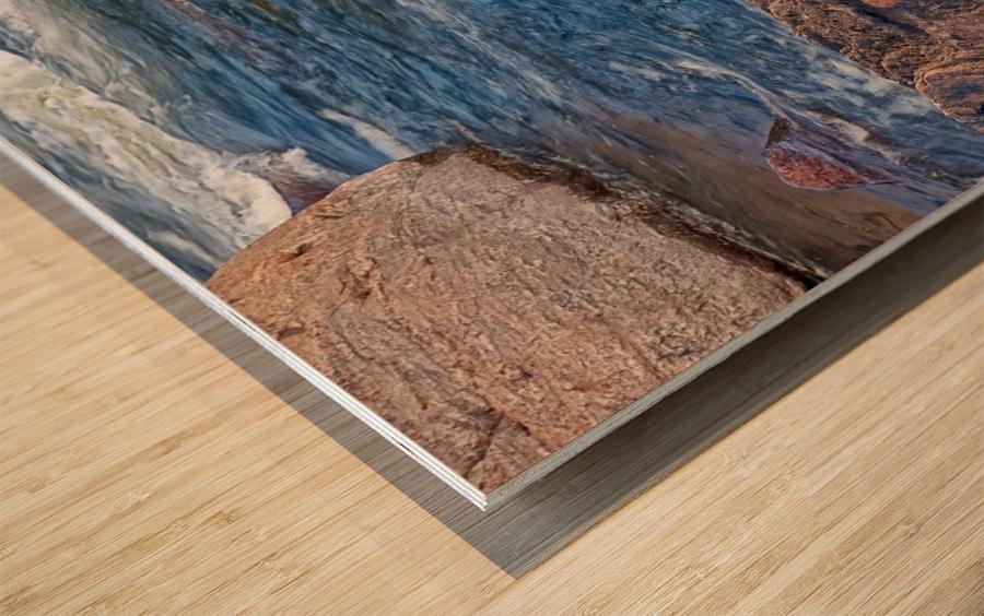 Rocky River Edge Wood print