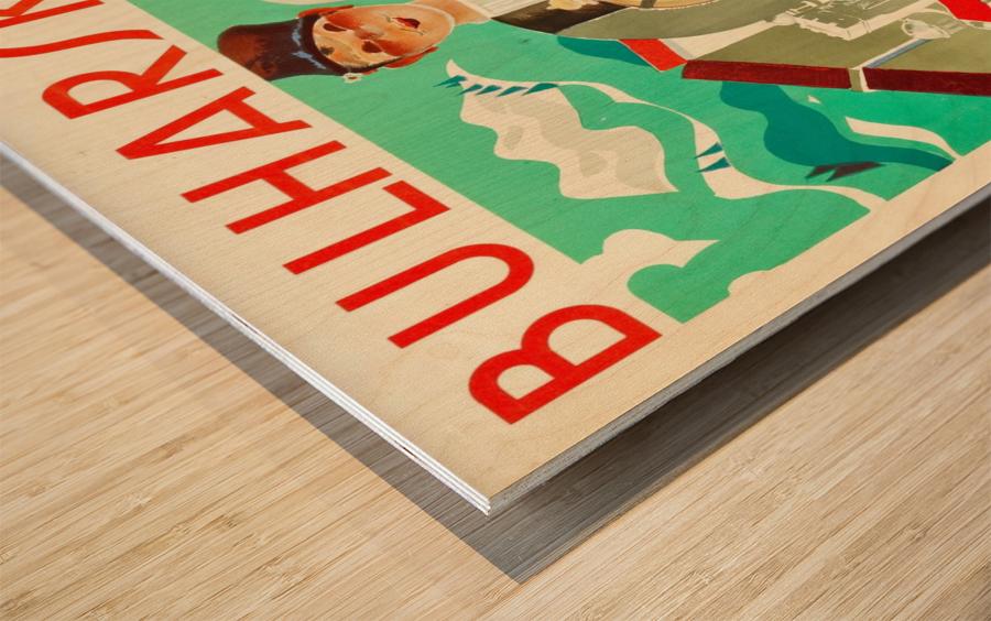 Bulgaria travel poster Wood print