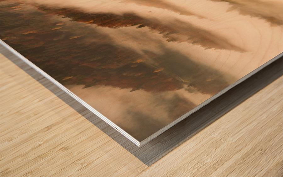 November's fog Wood print