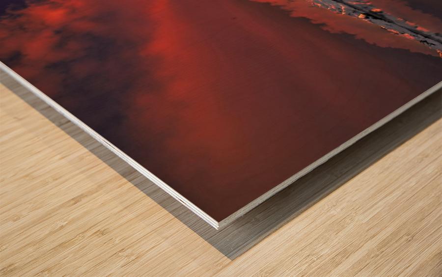 Ice & Fire Wood print