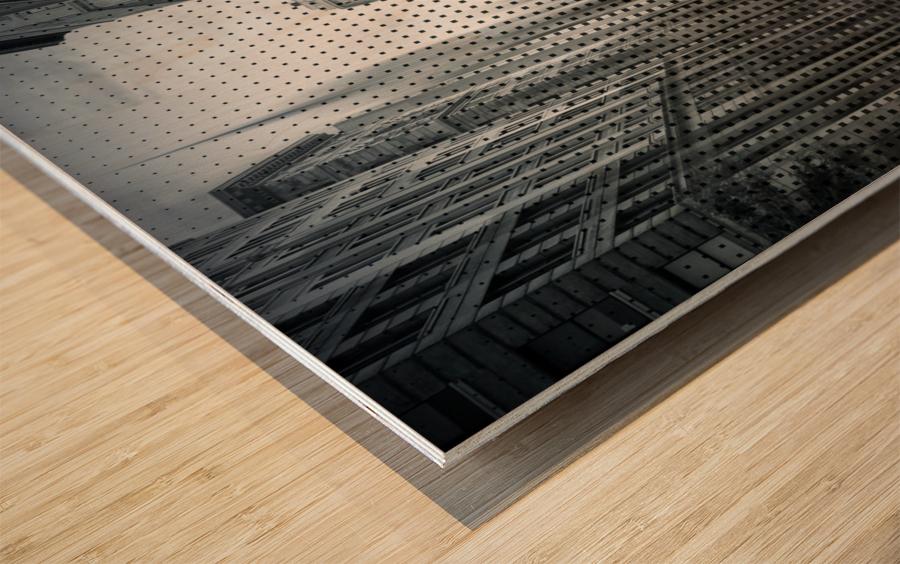 Graphic Art NYC 5th Avenue Traffic V Wood print