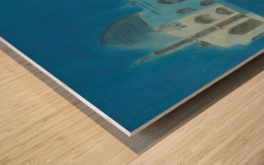 Taj. Wood print