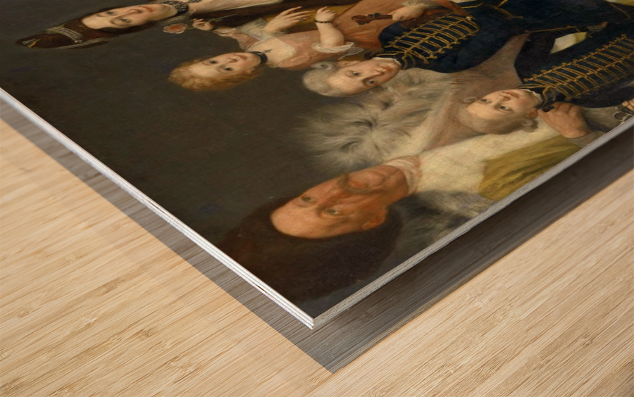 David George van Lennep and Family Wood print