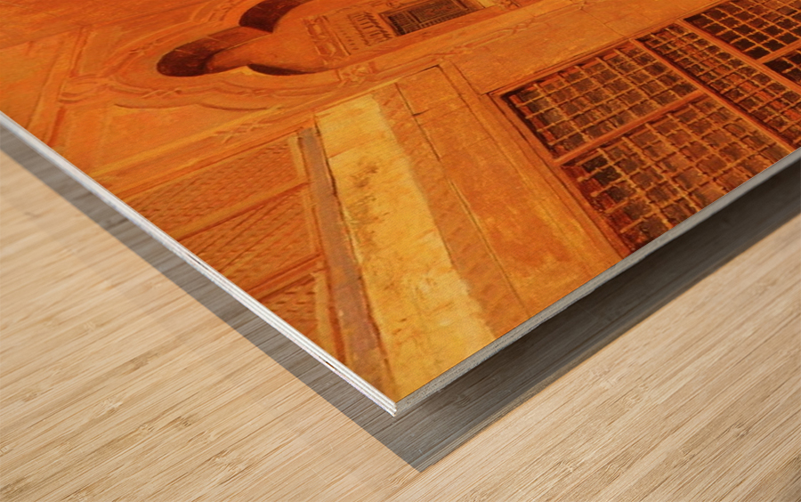 The Courtyard Wood print