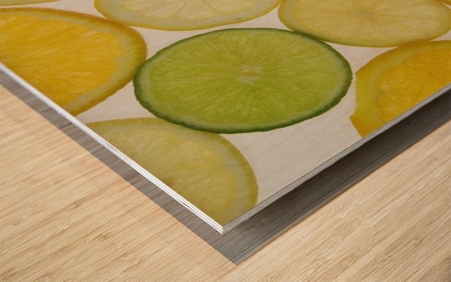 Citrus Slices Wood print