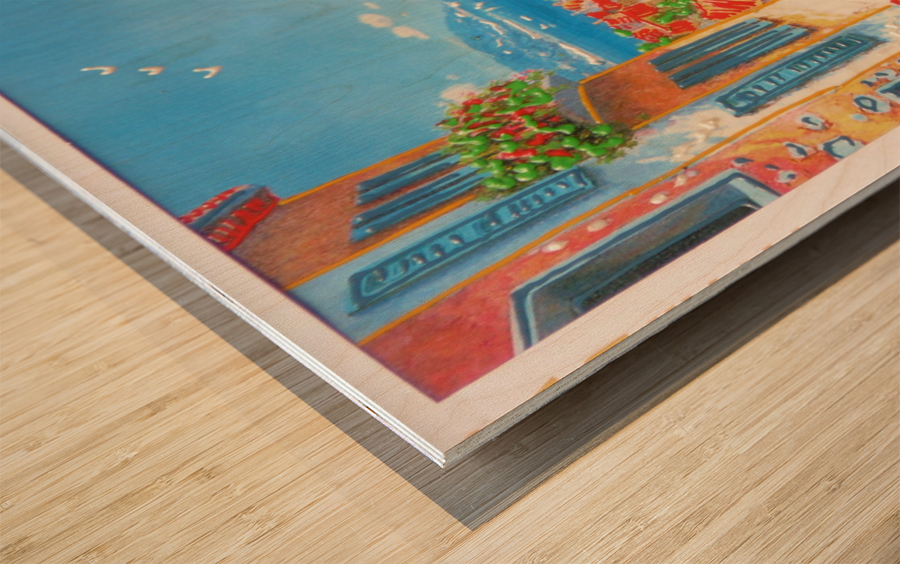 postcard Wood print