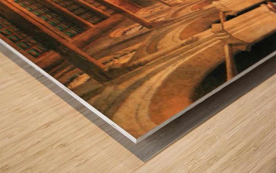 Interieur de la mosquee du Mourestan Wood print