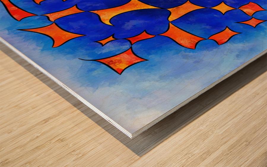 Blesmios V1- melting cubes Wood print