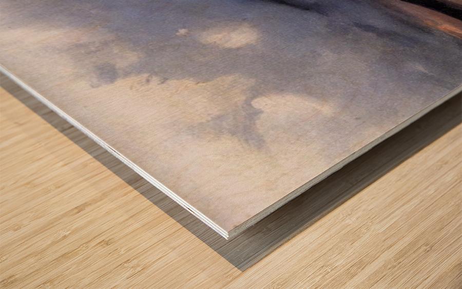 Galgenberg bei Gewitterstimmung Wood print