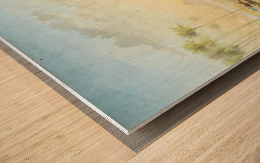 An Oasis at Giza Wood print