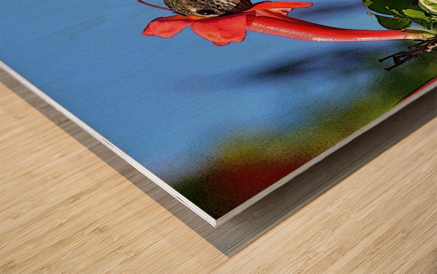 Inside the Flower Poster Edges Wood print