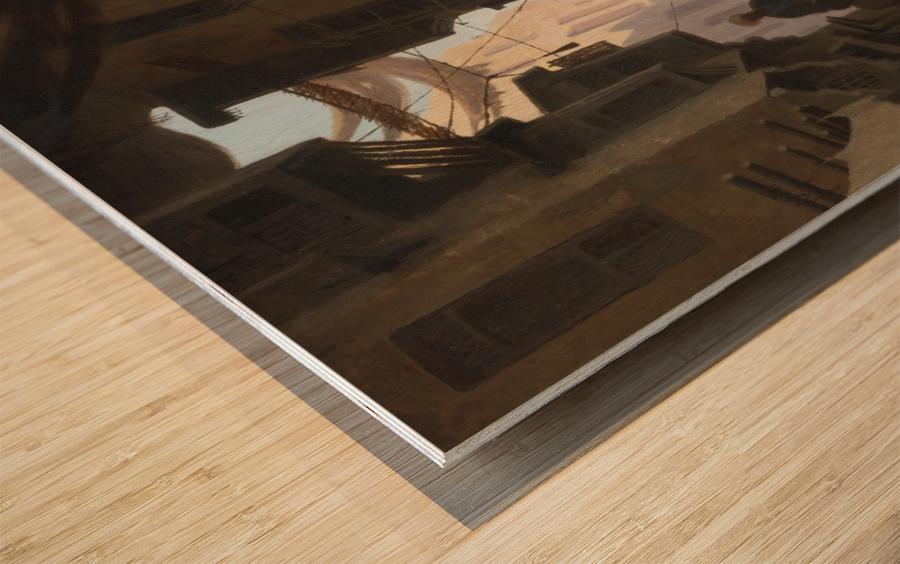 The Souk Wood print
