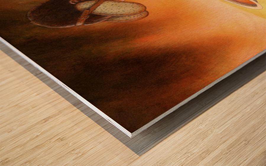 blind Wood print