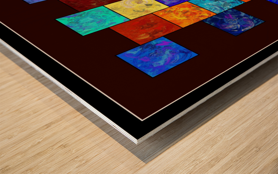 Ecleptios - colourful world Wood print