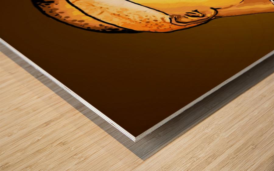 Tupac Wood print