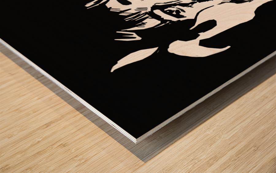 Bill Hicks Wood print