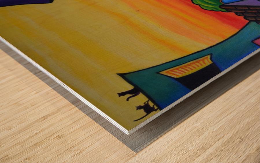 Lane in Languedoc Wood print