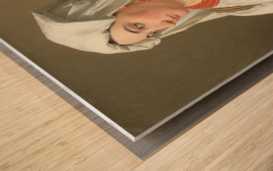 Una Ciociara Wood print