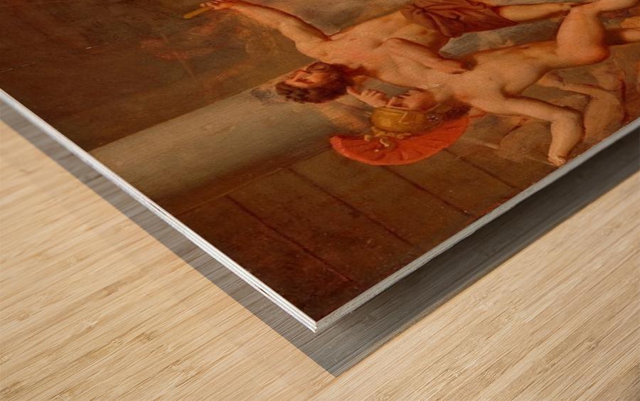 Ulysses revenge on Penelopes suitors Wood print