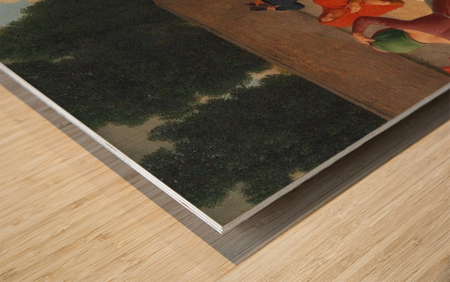 En Storm, Blaesevejr Wood print