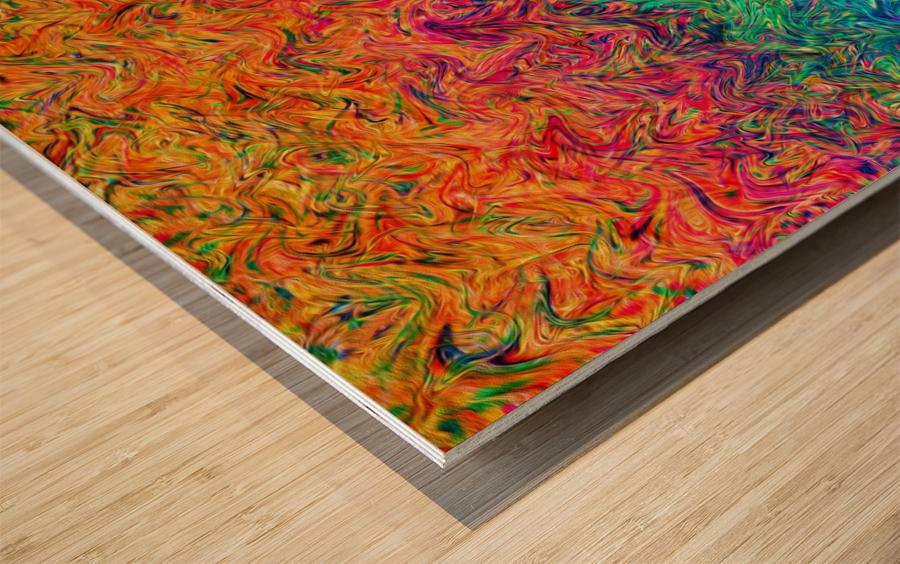 Fluid Colors G249 Wood print