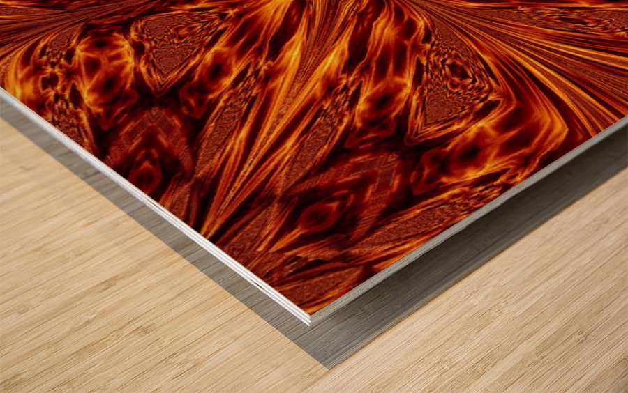 Fire Butterfly  Wood print