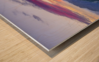 View from Moro Rock at dusk, Sequoia National Park; California, United States of America Wood print