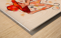 Estranella - summer flower Wood print