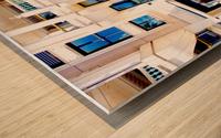 Pyramid Design Wood print