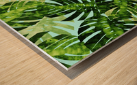 Watercolor leaves tropical I Wood print