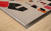 My Postcode Wood print