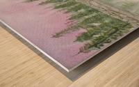 Pine reflections. Wood print