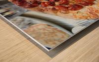 Pizza dans le Jardin de Nelson Wood print