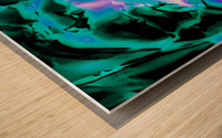 closeup rose texture abstract background in blue purple and green Wood print