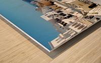 Super panoramic view - Santorini - Greece Wood print