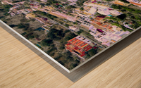 Aerial view of Positano Beach - Italy Wood print