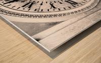 The Old Church Clock Wood print