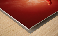 Chili red steaming hot Wood print