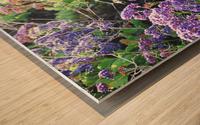 Purple Wild Flowers in Dana Point CA Wood print
