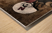 Gridiron Nebraska Football Cornhusker Artwork Wood print