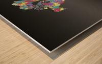 Graphic Art CRAZY WANDERLUST   Splashes Wood print
