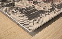 Graphic Art LONDON Streetscene Wood print