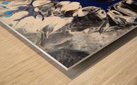 BLACK AND BLUE Wood print