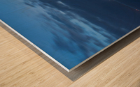 Blue Pre Dawn Marina Wood print