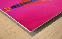 Guitar on Pink  Wood print