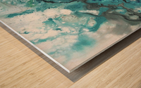 Ocean Glass Wood print