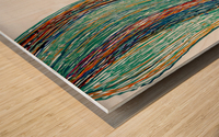 Lignes Wood print